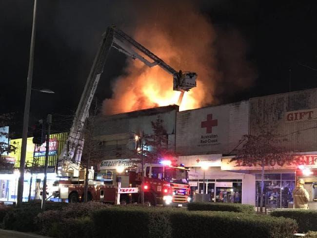 Dandenong retail shop fire