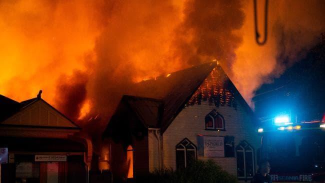 Geelong West church fire