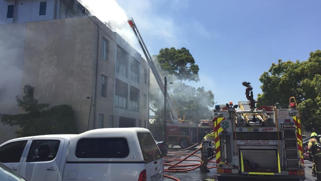 Hampton apartment building fire