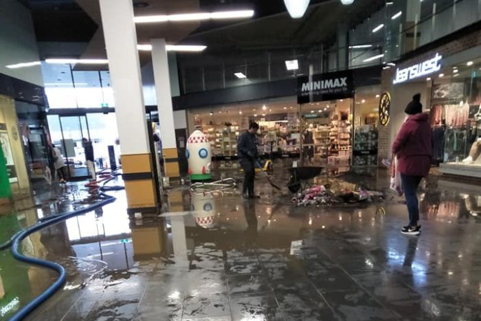 Kingston shopping centre flood