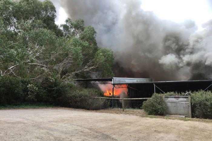 Mornington peninsula winery fire